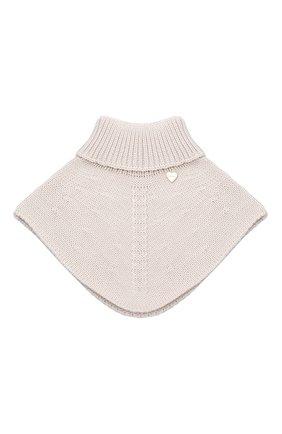 Детский шерстяной шарф-воротник IL TRENINO бежевого цвета, арт. 20 4058/E0 | Фото 1