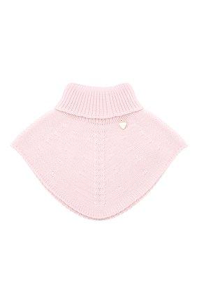 Детский шерстяной шарф-воротник IL TRENINO розового цвета, арт. 20 4058/E0 | Фото 1