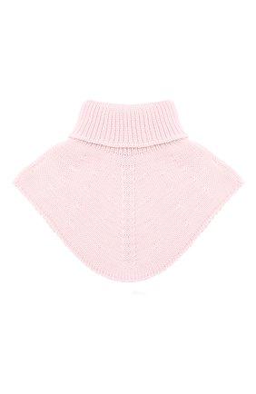 Детский шерстяной шарф-воротник IL TRENINO розового цвета, арт. 20 4058/E0 | Фото 2