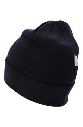 Детского шерстяная шапка IL TRENINO темно-синего цвета, арт. 20 4059/LR | Фото 2