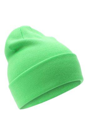 Детского шерстяная шапка IL TRENINO салатового цвета, арт. 20 4059/LR | Фото 1