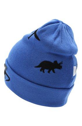Детского шерстяная шапка IL TRENINO синего цвета, арт. 20 7870/E5 | Фото 2