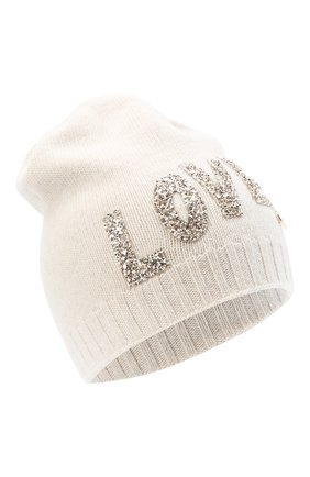 Детского шерстяная шапка IL TRENINO бежевого цвета, арт. 20 8183/E0 | Фото 1