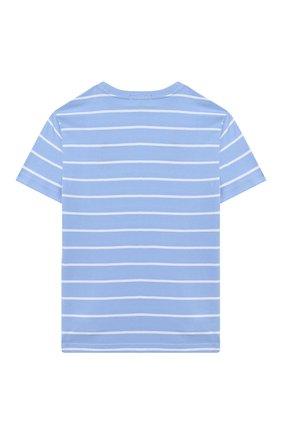 Детская хлопковая футболка POLO RALPH LAUREN голубого цвета, арт. 323786411 | Фото 2