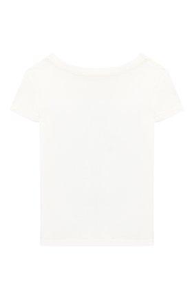Детская хлопковая футболка POLO RALPH LAUREN белого цвета, арт. 311785449 | Фото 2