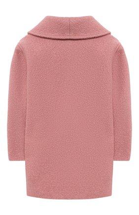Детского шерстяное пальто GUCCI розового цвета, арт. 629437/XWALE | Фото 2