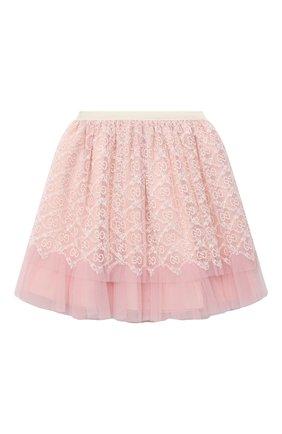 Детская юбка GUCCI розового цвета, арт. 629156/ZAE02 | Фото 1