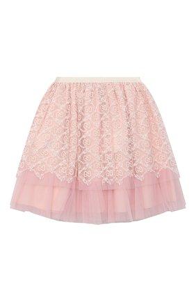Детская юбка GUCCI розового цвета, арт. 629156/ZAE02 | Фото 2