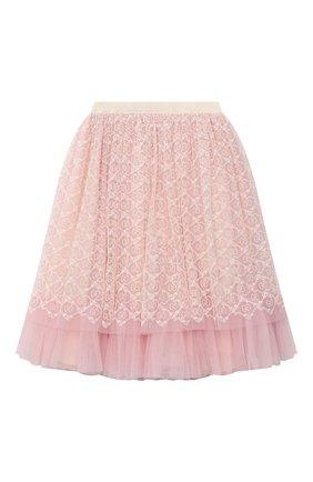 Детская юбка GUCCI розового цвета, арт. 629155/ZAE02 | Фото 1