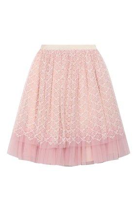 Детская юбка GUCCI розового цвета, арт. 629155/ZAE02 | Фото 2
