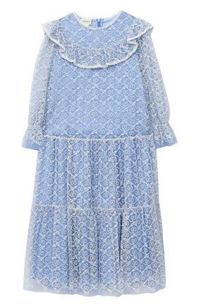 Детское платье GUCCI голубого цвета, арт. 629148/ZAE02   Фото 1
