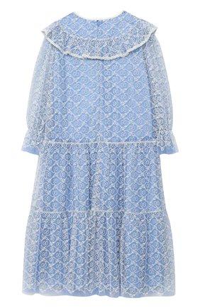 Детское платье GUCCI голубого цвета, арт. 629148/ZAE02   Фото 2