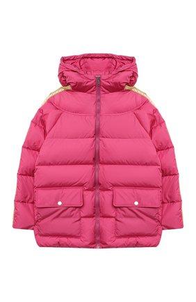 Детского пуховая куртка GUCCI розового цвета, арт. 622831/XWAK7   Фото 1