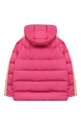 Детского пуховая куртка GUCCI розового цвета, арт. 622831/XWAK7   Фото 2