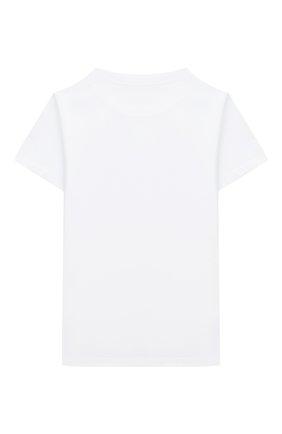 Детская хлопковая футболка BALMAIN белого цвета, арт. 6N8561/NX290/12-16 | Фото 2