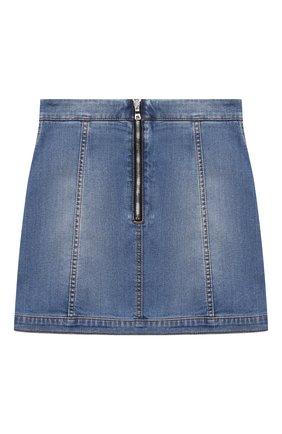 Детская джинсовая юбка BALMAIN голубого цвета, арт. 6N7040/NA320/12-16 | Фото 2