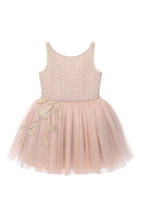 Детское платье BIBIONA розового цвета, арт. ABS01SS18 | Фото 1
