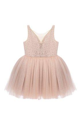 Детское платье BIBIONA розового цвета, арт. ABS01SS18 | Фото 2