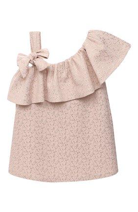 Детское платье BIBIONA розового цвета, арт. ABS11SS18 | Фото 1
