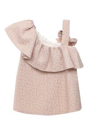 Детское платье BIBIONA розового цвета, арт. ABS11SS18 | Фото 2