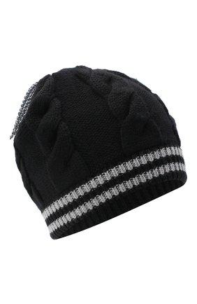 Женский шерстяная шапка GIORGIO ARMANI черно-белого цвета, арт. 797412/0A515 | Фото 1