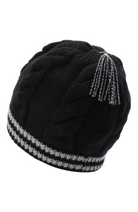 Женский шерстяная шапка GIORGIO ARMANI черно-белого цвета, арт. 797412/0A515 | Фото 2