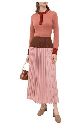 Женская кашемировый пуловер LORO PIANA розового цвета, арт. FAL2070 | Фото 2