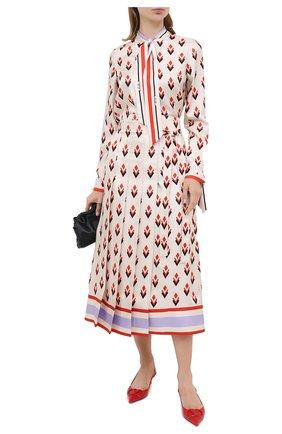 Женская шелковая юбка VALENTINO белого цвета, арт. UB3RA6275LB | Фото 2