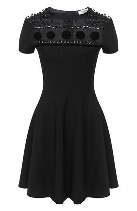 Женское платье из вискозы VALENTINO черного цвета, арт. UB3KD05C5UQ   Фото 1