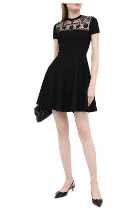 Женское платье из вискозы VALENTINO черного цвета, арт. UB3KD05C5UQ   Фото 2