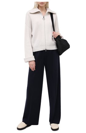 Женские брюки из кашемира и шелка LORO PIANA темно-синего цвета, арт. FAL2678 | Фото 2