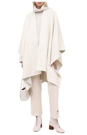 Женская кашемировая накидка LORO PIANA белого цвета, арт. FAL3090 | Фото 2