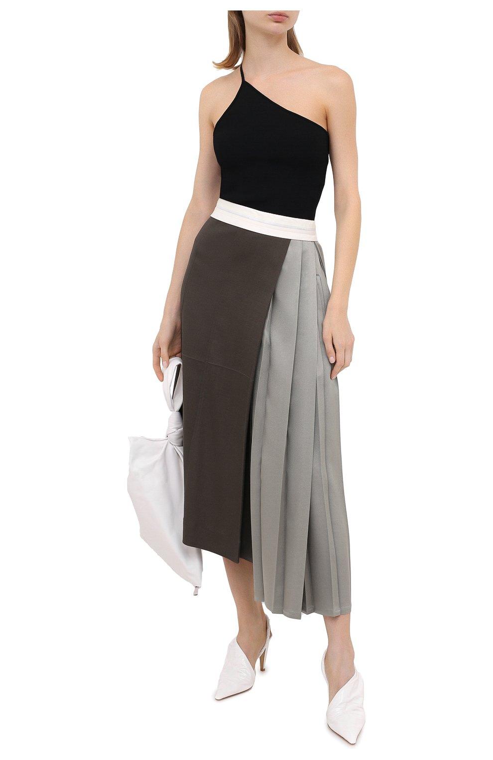 Женские кожаные туфли bv point BOTTEGA VENETA белого цвета, арт. 630183/VBP10 | Фото 2