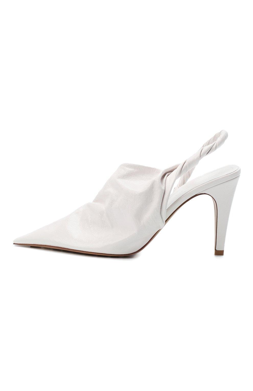 Женские кожаные туфли bv point BOTTEGA VENETA белого цвета, арт. 630183/VBP10 | Фото 3