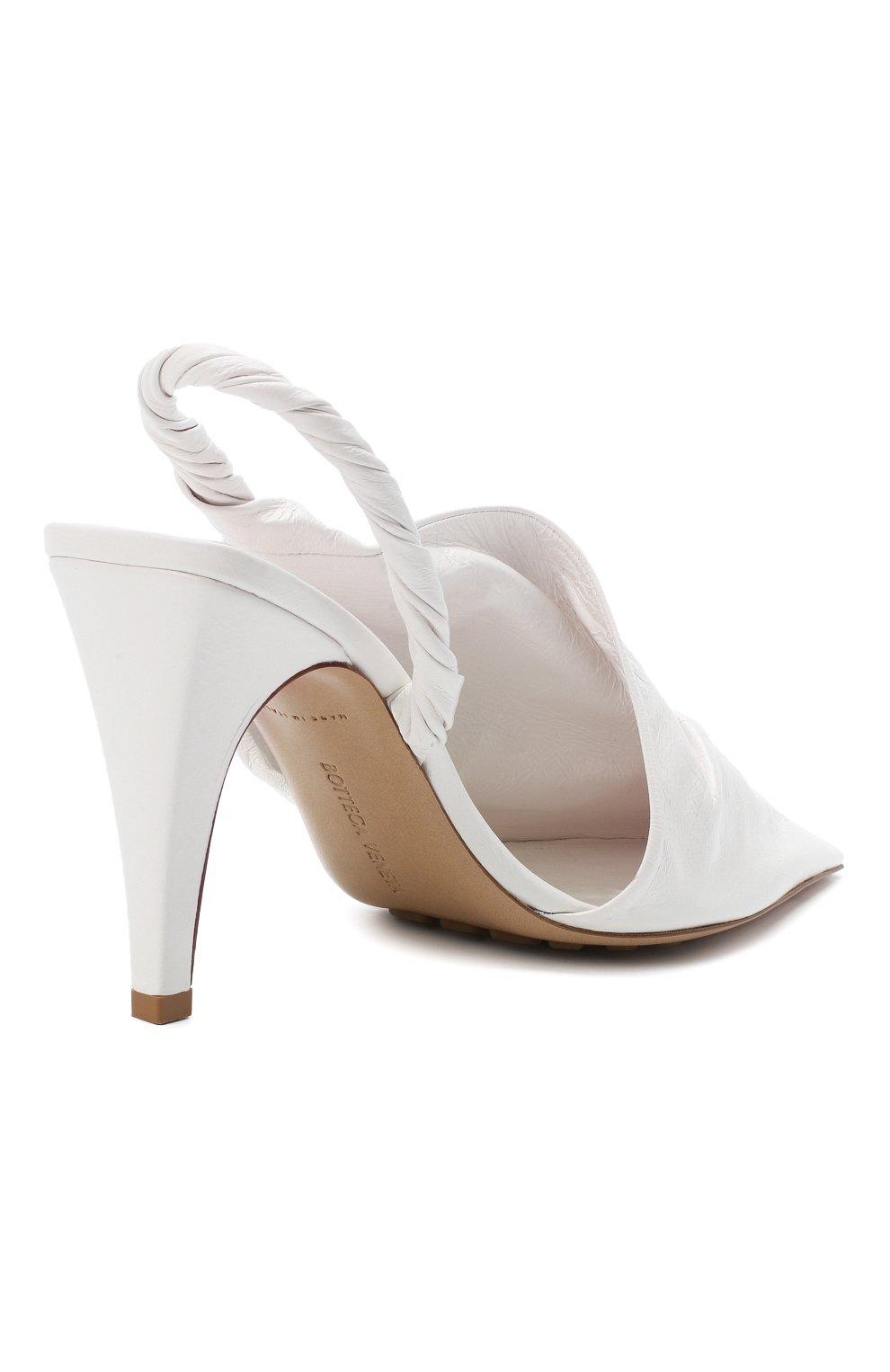 Женские кожаные туфли bv point BOTTEGA VENETA белого цвета, арт. 630183/VBP10 | Фото 4
