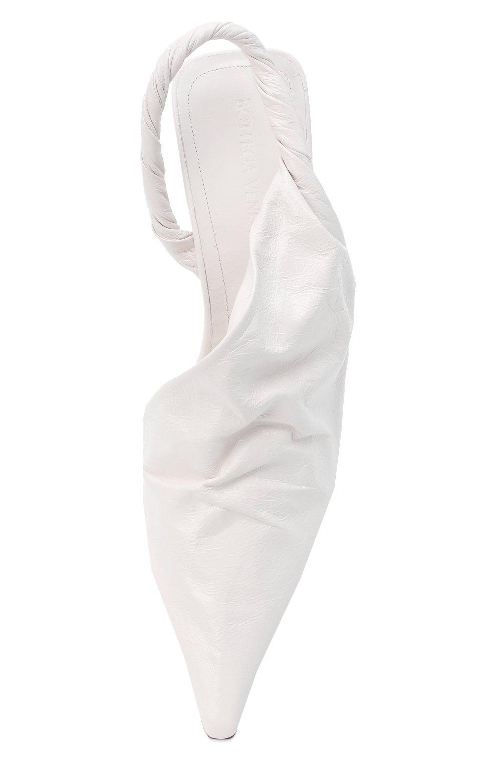 Женские кожаные туфли bv point BOTTEGA VENETA белого цвета, арт. 630183/VBP10 | Фото 5