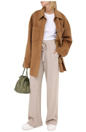Женские брюки NANUSHKA бежевого цвета, арт. 0NI_BEIGE_RECYCLED CASHMERE KNIT   Фото 2