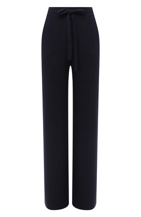 Женские брюки NANUSHKA темно-синего цвета, арт. 0NI_NAVY_RECYCLED CASHMERE KNIT   Фото 1