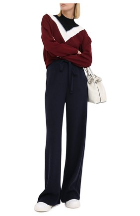 Женские брюки NANUSHKA темно-синего цвета, арт. 0NI_NAVY_RECYCLED CASHMERE KNIT   Фото 2