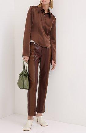 Женская блузка NANUSHKA коричневого цвета, арт. ALICE_BR0WN_SLIP SATIN | Фото 2