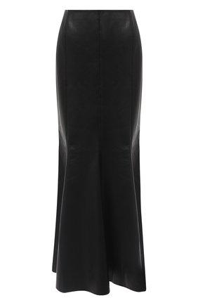 Женская юбка-миди NANUSHKA черного цвета, арт. ARTEM_BLACK_VEGAN LEATHER | Фото 1
