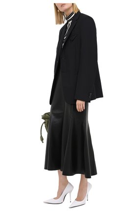 Женская юбка-миди NANUSHKA черного цвета, арт. ARTEM_BLACK_VEGAN LEATHER | Фото 2