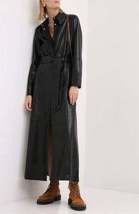 Женское платье с поясом NANUSHKA черного цвета, арт. ASAY0_BLACK_VEGAN LEATHER | Фото 2