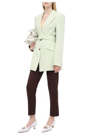 Женский жакет с поясом NANUSHKA светло-зеленого цвета, арт. H0N0R_MINT_CADY | Фото 2
