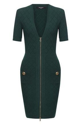 Женское платье из вискозы BALMAIN зеленого цвета, арт. UF16435/K110 | Фото 1