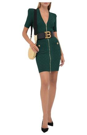 Женское платье из вискозы BALMAIN зеленого цвета, арт. UF16435/K110 | Фото 2