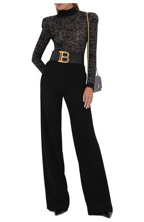 Женское боди из вискозы BALMAIN черного цвета, арт. UF10946/K129 | Фото 2