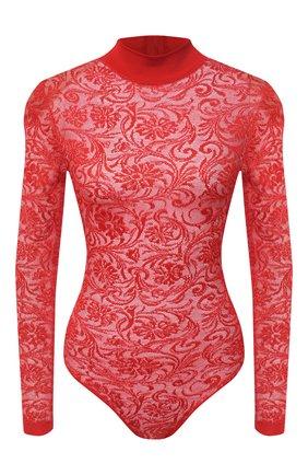 Женское боди из вискозы BALMAIN красного цвета, арт. UF10946/K129 | Фото 1