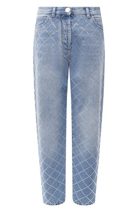 Женские джинсы BALMAIN голубого цвета, арт. UF15700/D050 | Фото 1