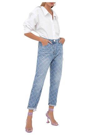 Женские джинсы BALMAIN голубого цвета, арт. UF15700/D050 | Фото 2